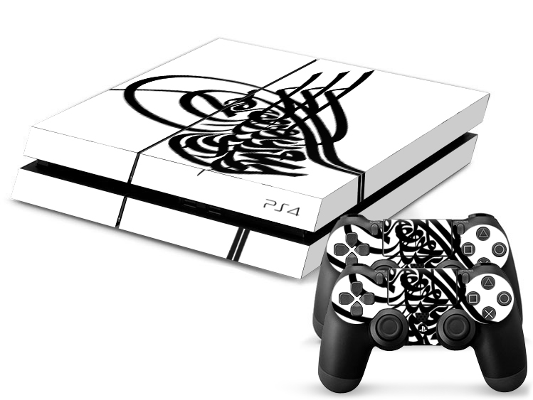 tugra aufkleber folie ps4 skin playstation 4